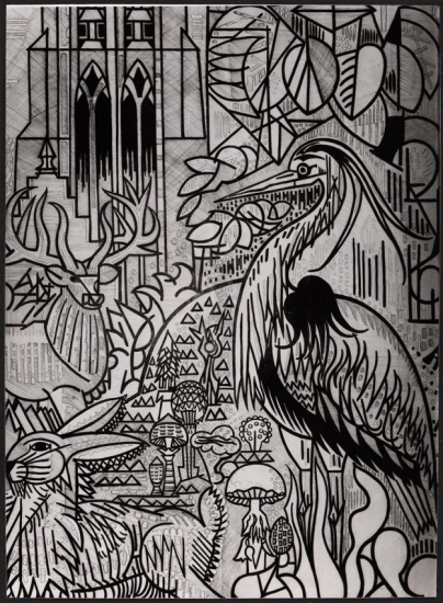 Cartoon of the tapestry