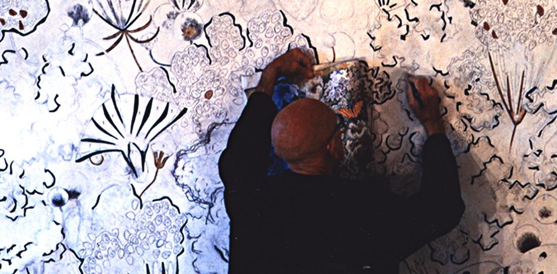 Dom Robert finishing a tapestry cartoon