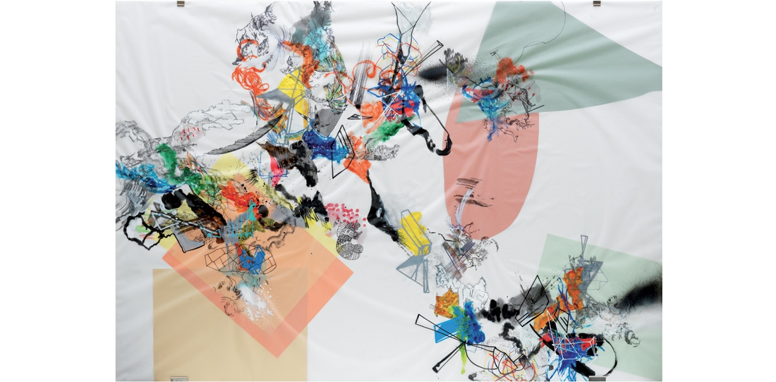 Blink # 0, 1/3, Benjamin Hochart, second prize 2010, oil on tracing paper