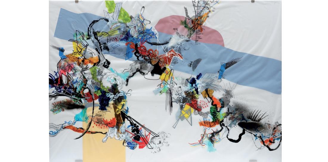 Blink # 0, 2/3, Benjamin Hochart, second prize 2010, oil on tracing paper