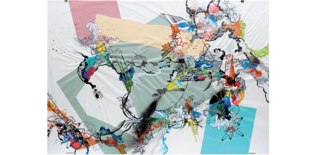 Blink # 0, 3/3, Benjamin Hochart, second prize 2010, oil on tracing paper