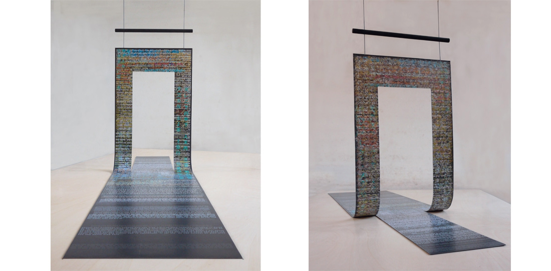 Tapis-Porte, Vincent Bécheau & Marie-Laure Bourgeois, third prize 2012, model printed on paper, view of both sides