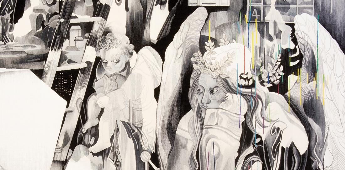 Melancholia (detail), by Marc Bauer, second prix 2011, woven by Patrick Guillot workshop, 2013