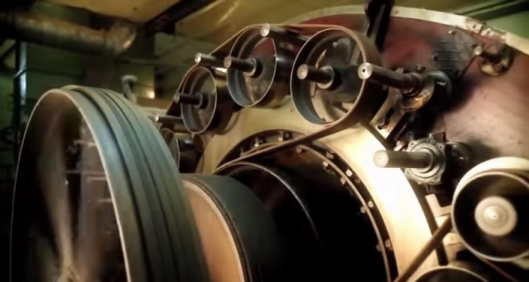 The spinnning factory Terrade in Felletin, Creuse