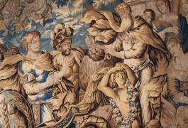 Ulysse leaves Eole (detail), by Isaac Moillon, Aubusson's workshops, XVIIth century