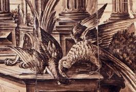 Métamorphoses, Le Palais de Circé, de Jean-Baptiste Oudry, carton de tapisserie, fin du XVIIIe siècle