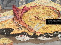 The origins of the agreement with the Tolkien Estate for creating an exclusive series of thirteen tapestries and one carpet to be woven at Aubusson over the course of four years.